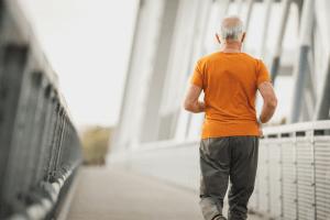 man running after disc herniation treatment