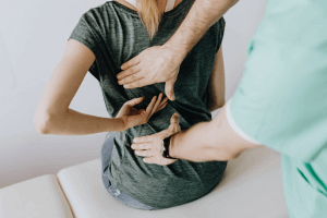 woman getting physical therapy treatment for disc herniations